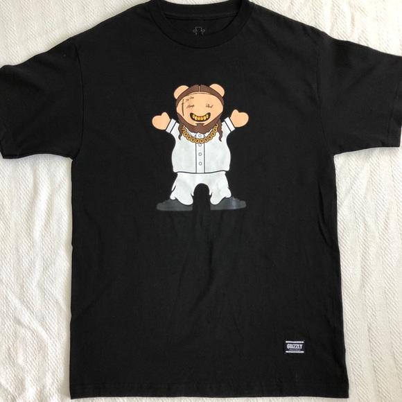 bfd914a9 Grizzley Griptape Shirts | Grizzly Griptape Og Bear Hip Hop Rapper T ...